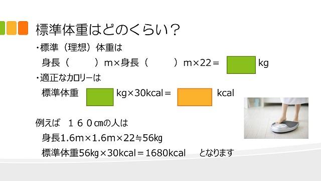 標準体重はどれくらい?